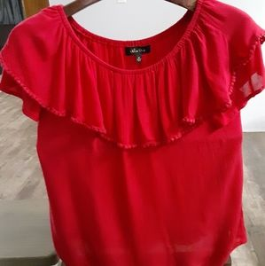 Melissa paige off the shoulder red top size med